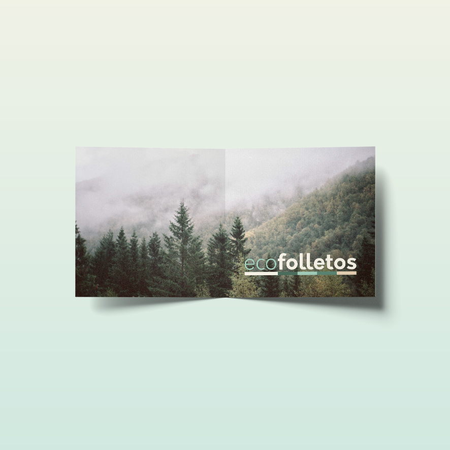 Dípticos cuadrados ecológicos con envío gratis