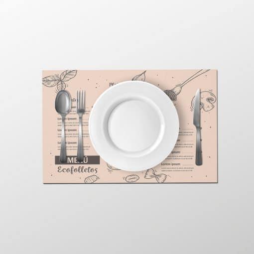 manteles de papel individuales personalizados