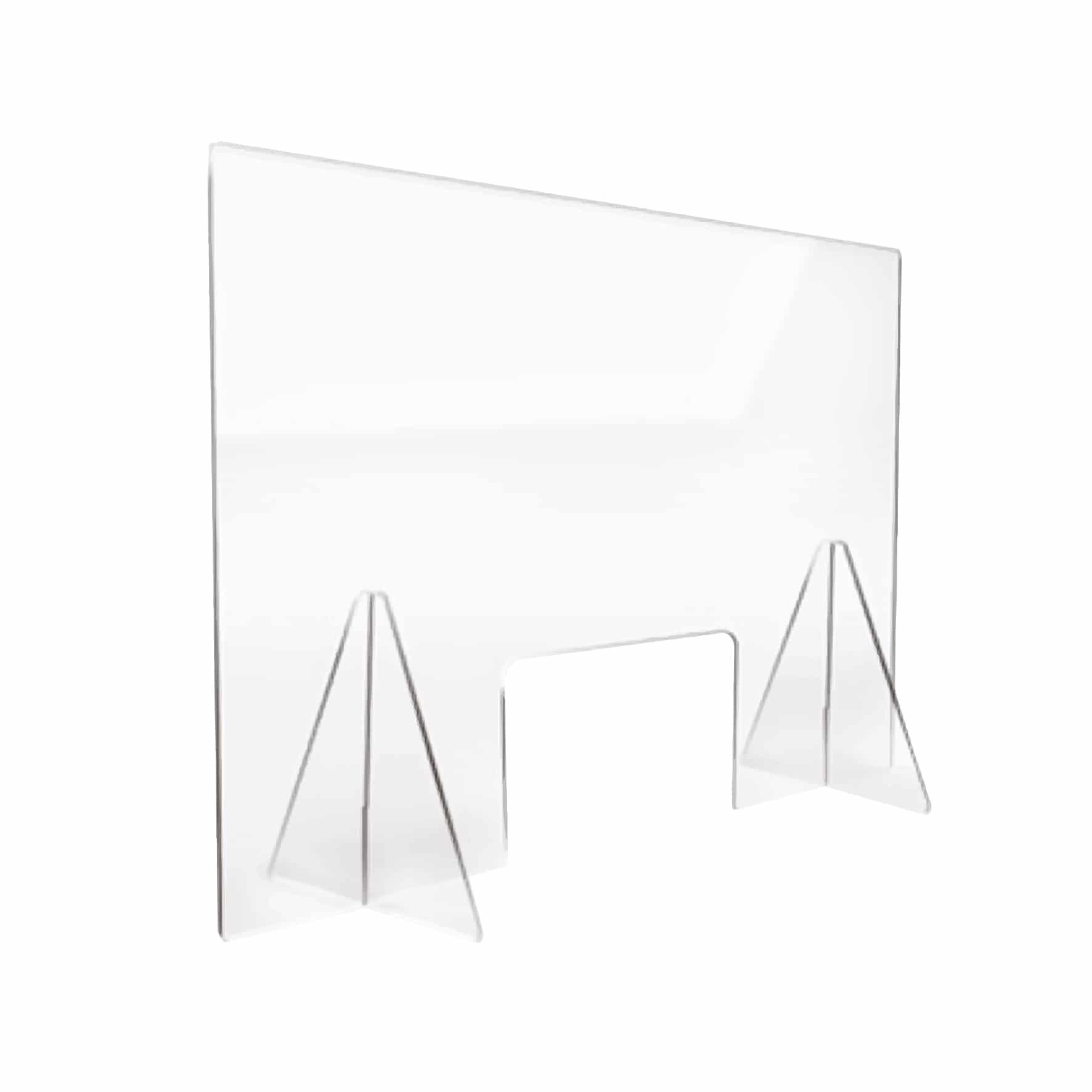 Mampara anticontagio con ventana